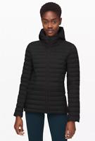 Lululemon Women Down For It All Hooded Pack It Down Jacket Blackest Blk Size 6