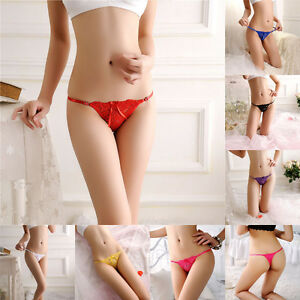 Sexy Women's Lace V-string Briefs Panties Thongs G-string Lingerie Underwear dy