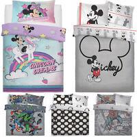 Kids Boys Girls Disney Panel Duvet Cover Set Childrens Bedding Set Single Double