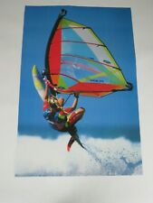 art print poster wind surfing sailing wave jumping sports ocean surfboard