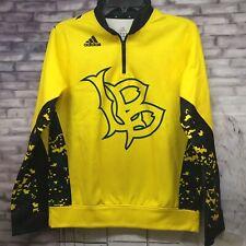 Adidas Youth Long Beach State Jackrabbits 1/4 Zip Pullover Jacket Sz YL SnoopDog