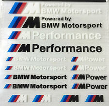 16x BMW M POWER SPORT PERFORMANCE TECH PACK adesivi decalcomanie Badge Logo M3 M5 M6