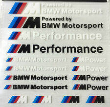 16x BMW M Power Sport Tech RENDIMIENTO logotipo e insignia calcomanías Pack M3 M5 M6