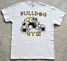 Bulldog Gym Bodybuilding Training Muskel T-Shirt Weiss/Schwarz/Gold M L XL Neu