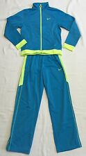 Girls Turquoise And Bright Lime Green Track Suit By Nike Sz L NWOT