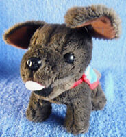 *1801b*  Assistance puppy dog - brown - plush - 14cm