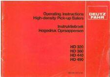 DEUTZ FAHR BALER HD320 HD380 HD440 HD490 OPERATORS MANUAL