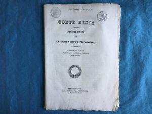 Corte Regia (Firenze) Causa Piccolomini e Cinughi vedova Piccolomini 1845