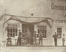 "WESTERN Street Scene SALOON Men RIFLE Gun VINTAGE Photo Print 789 11"" x 14"""