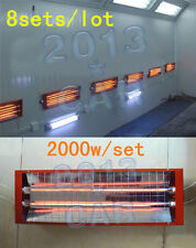 Spray/Baking booth Infrared Paint Curing Lamp Heating Light Heater 8 Sets* 2KW