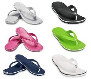 Crocs Crocband Mens Womens Flip Flops Summer Beach Soft Thong Toe Sandals