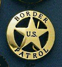 U.S. Border Patrol  Badge Belt Buckle Solid Brass