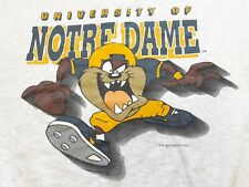 Vtg 90s 1996 Looney Tunes x Notre Dame Fighting Irish Sweatshirt Gray L fits M