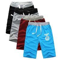 Mens Drawstring Cotton Shorts Casual Beach Gym Sport Jogging Swimming Pants US