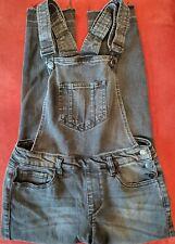 Refuge Women's Black Bib Jumpsuit Jeans Overalls Denim Stretch Size M EUC
