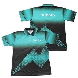 Kubota Limited Edition Teal Metal Tread Polo