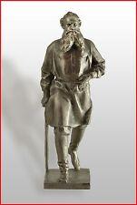 Russian writer LEO TOLSTOY Soviet USSR era metal bust statue sculpture (2185)