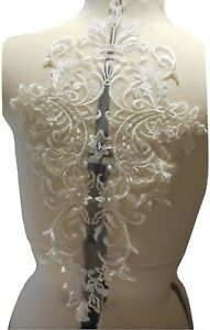 ivory floral lace applique sew on bridal embroidered lace motif patch for sewing