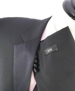 """$1,095 HUGO BOSS - """"The Stars75/Glamour3"""" Suit Genuine HORN Buttons Tuxedo - 46L"""