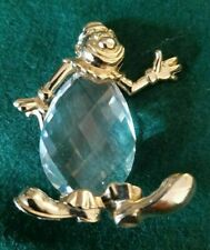 Crystal Clown with Walking Cane and Gold Trim Figurine
