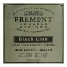 More details for ukulele strings fremont blackline - fluorocarbon hard - soprano & concert black