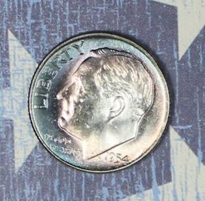 1954 ROOSEVELT SILVER DIME TONED COLLECTOR COIN FREE SHIPPING