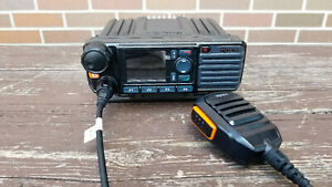 Hytera MD782G U(2) Digital Mobile Radio 450-520MHz UHF w Mic SM16A1 & Bracket