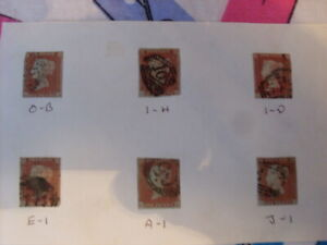 UK STAMPS QUEEN VICTORIA IMPERFORATE 1d RED QTY   USED AND MOUNTED  #23
