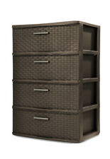 Sterilite 4 Drawer Wide Weave Tower - Espresso
