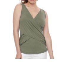 Maternity A:glow Twist Nursing Tank Tee Green XS Msrp$36