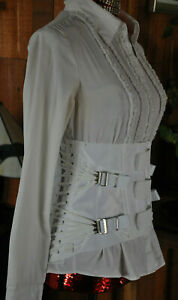 "NEW 24-29"" Waist Cincher SteamPunK Corset Fan Lacing Medical Girdle Sizes 28-56"