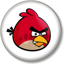 "Angry birds red bird 25mm 1"" Pin Button Badge iPhone iPad App Computer Game Fun"