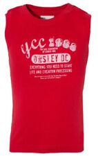 Vêtements rouge sans manches pour garçon de 2 à 16 ans en 100% coton