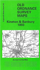 OLD ORDNANCE SURVEY MAP KINETON BANBURY SHIPTON ON STOUR MIDDLETON CHENEY 1893