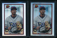 Lot of (2) WANDER FRANCO 2019 Bowman Chrome 30th Anniversary Rays Rookie Card RC