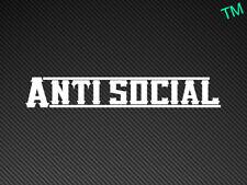 Anti Social Car Sticker Decal Drift Nissan BMW JDM Dub Show Stance RAT