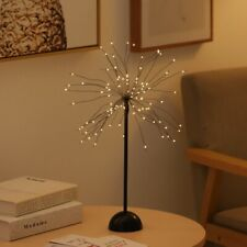 LED Glow Worm Dandelion Tree Night Light Lamp Home Office Desk Decoration Arts
