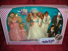 Barbie MIDGE WEDDING PARTY Gift Set w 6 DOLLS  BARBIE KEN MIDGE ALAN KELLY TODD
