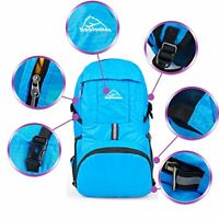 Hopsooken 30L Ultra Lightweight Travel Water Resistant Packable Backpack - Blue