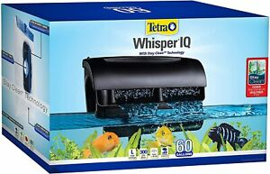 Whisper IQ Power Filter for Aquariums, With Quiet Technology 60-Gallon