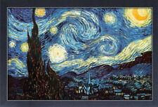 STARRY NIGHT VINCENT VAN GOGH 13x19 FRAMED GELCOAT POSTER PAINTING IMPRESSIONIST