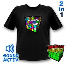 Partyshirt  Würfel LED Equalizer T-Shirt Tshirt DJ Music sound Musiker Geschenk