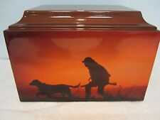 504 Hunting Theme  Adult Cremation Urn with 5 Free Lines of Lettering!