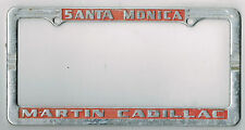 1950s Santa Monica California Martin Cadillac Vintage Dealer License Plate Frame