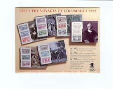 US Postage- Columbus' 500th Anniversary Souvenir Sheets