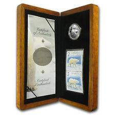 2004 Canadian 1/4 oz Silver Polar Bear $2 Coin and Stamp Set - SKU #78431