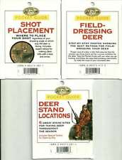3 DEER HUNTING POCKET GUIDES *NEW* Field Dressing Shot Placement Stand Locations