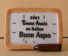 """Fève Bonne Année 2001 en Italien - """"Buon Anno"""""""