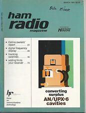 Ham Radio March 1981 Converting Surplus AN/UPX-6 Cavities Very Good