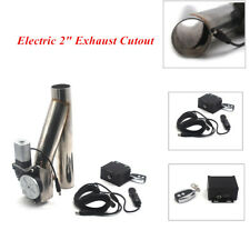"""2"""" Wireless Remote Stainless Steel Electric Exhaust Cutoff Bypass Valve DIY Part"""